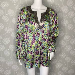 Boden Limited Edition Blouse Size 18 Multi Colored